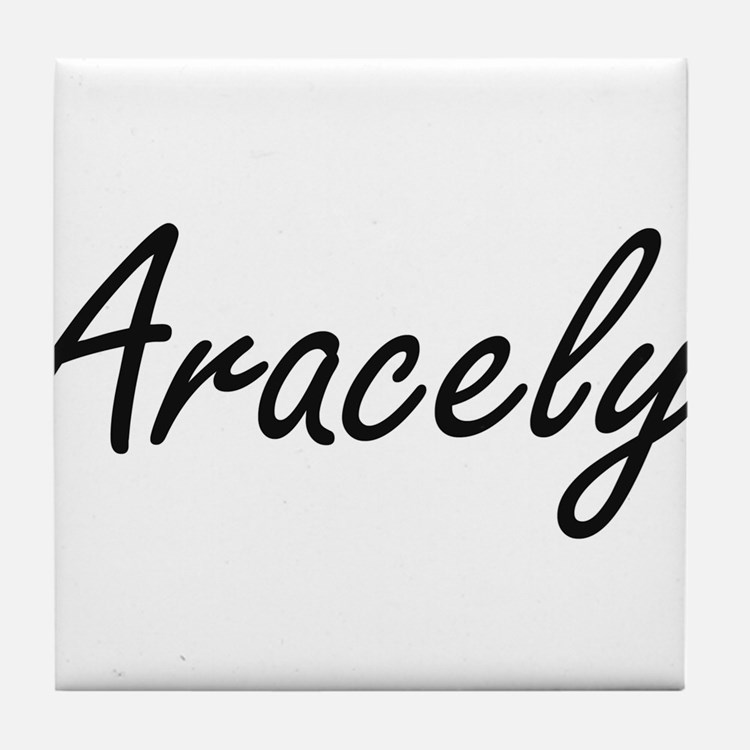 Aracely artistic Name Design Tile Coaster