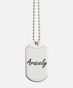 Aracely artistic Name Design Dog Tags