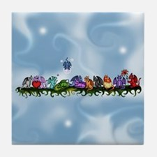 many cute Dragons Sky Tile Coaster