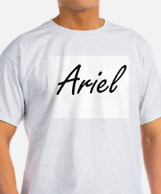 Ariel artistic Name Design T-Shirt