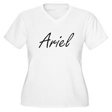 Ariel artistic Name Design Plus Size T-Shirt