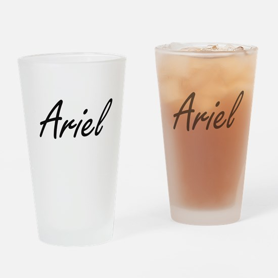 Ariel artistic Name Design Drinking Glass