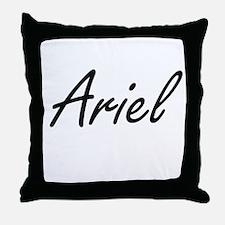 Ariel artistic Name Design Throw Pillow