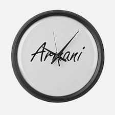 Armani artistic Name Design Large Wall Clock