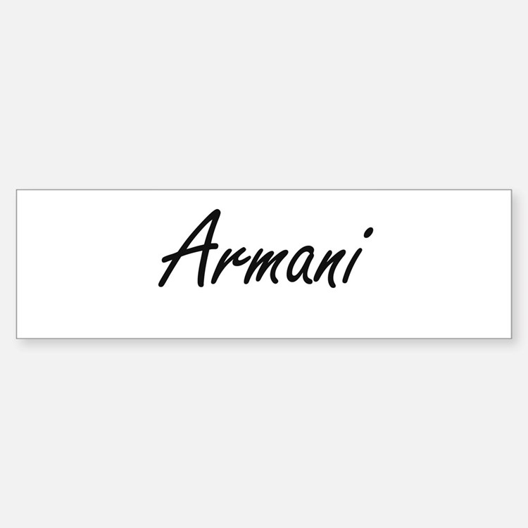 Armani artistic Name Design Bumper Car Car Sticker