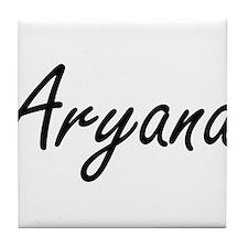 Aryana artistic Name Design Tile Coaster
