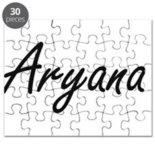 Aryana artistic Name Design Puzzle
