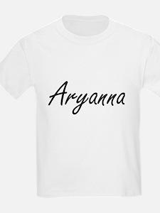 Aryanna artistic Name Design T-Shirt