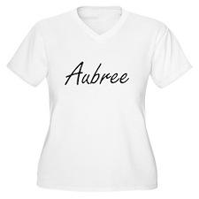 Aubree artistic Name Design Plus Size T-Shirt