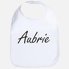 Aubrie artistic Name Design Bib