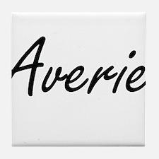 Averie artistic Name Design Tile Coaster