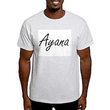 Ayana artistic Name Design T-Shirt