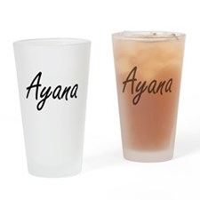 Ayana artistic Name Design Drinking Glass