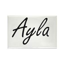 Ayla artistic Name Design Magnets
