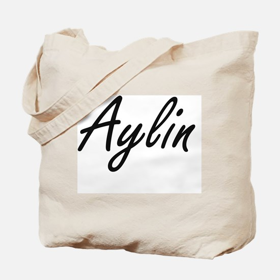 Aylin artistic Name Design Tote Bag