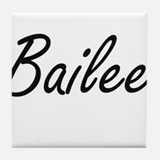 Bailee artistic Name Design Tile Coaster