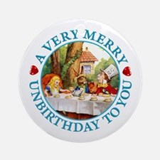 A Very Merry Unbirthday To You Ornament (Round)