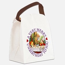 A Very Merry Unbirthday To You Canvas Lunch Bag