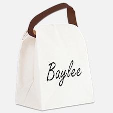 Baylee artistic Name Design Canvas Lunch Bag