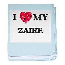 I love my Zaire baby blanket