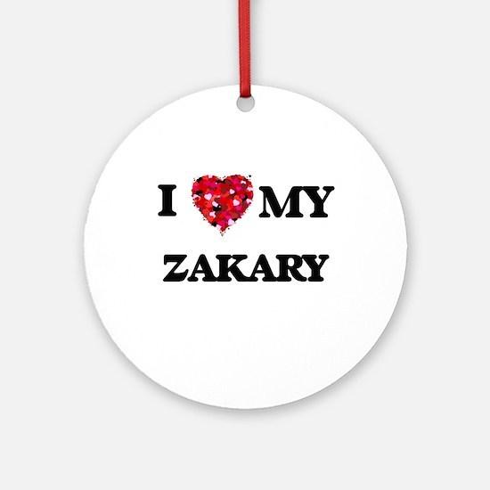 I love my Zakary Ornament (Round)