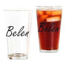 Belen artistic Name Design Drinking Glass