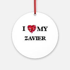 I love my Zavier Ornament (Round)
