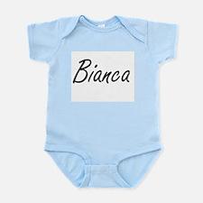 Bianca artistic Name Design Body Suit