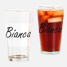Bianca artistic Name Design Drinking Glass
