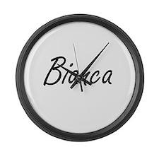 Bianca artistic Name Design Large Wall Clock