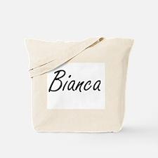 Bianca artistic Name Design Tote Bag