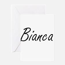 Bianca artistic Name Design Greeting Cards