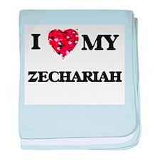 I love my Zechariah baby blanket