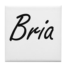 Bria artistic Name Design Tile Coaster