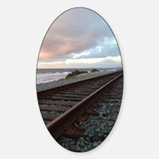 Train Track into Sunset Decal