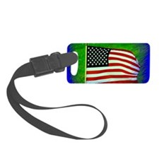 US Flag Luggage Tag