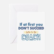 Coach Greeting Cards