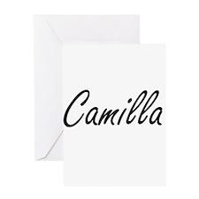 Camilla artistic Name Design Greeting Cards