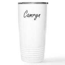 Camryn artistic Name De Travel Coffee Mug