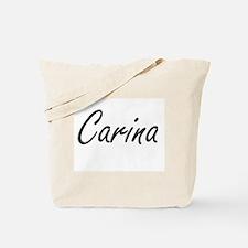 Carina artistic Name Design Tote Bag