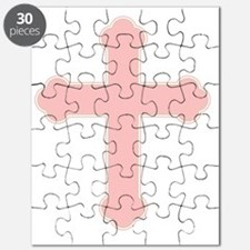 Pink Christian Cross Puzzle