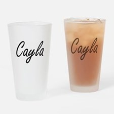 Cayla artistic Name Design Drinking Glass