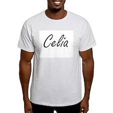 Celia artistic Name Design T-Shirt