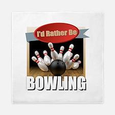 Cute Bowling ball Queen Duvet