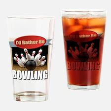 Cute Bowling ball Drinking Glass