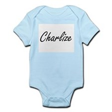 Charlize artistic Name Design Body Suit