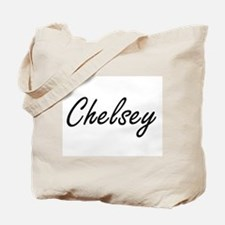 Chelsey artistic Name Design Tote Bag