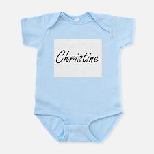 Christine artistic Name Design Body Suit