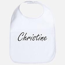 Christine artistic Name Design Bib