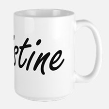 Christine artistic Name Design Mugs